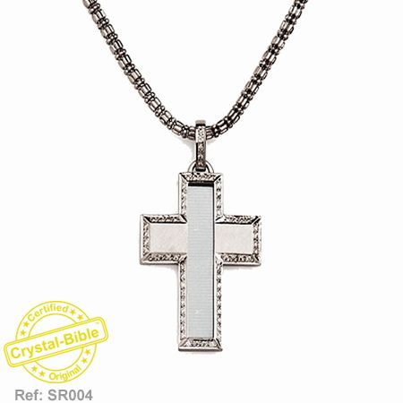 CRYSTAL BIBLE in DIAMONDS CROSS